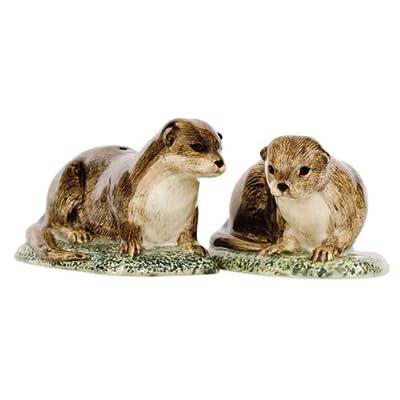 Quail Ceramics - Otter Salt And Pepper Pots from Quail Ceramics