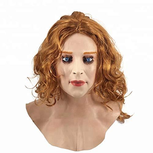 Realistische vrouwelijke latex masker partij Cosplay Carnaval Vrouw Gezicht Kostuum Masker Kruis