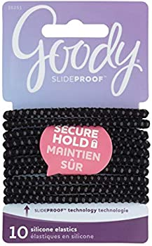 10-Count Goody Hair SlideProof Hair Tie Elastics, 4mm