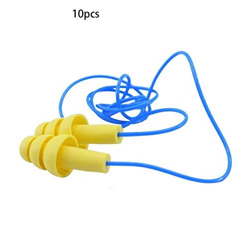 10 Paare/Satz Weichschaum Anti Noise Ohrstöpsel Gehörschutz Schlaf Schalldichte Ohrstöpsel Arbeitssicherheit Supplies + 4004-Gelb