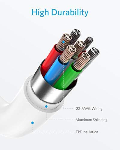 AnkerPowerLineIIUSB-C&ライトニングケーブル【AppleMFi認証取得/PowerDelivery対応/急速充電&データ同期/超高耐久】iPhone11/11Pro/11ProMax/XR/8(0.9mホワイト)