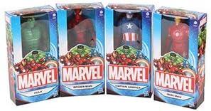 Spider-Man, Iron Man, Capitán América & Hulk - Figuras de Marvel de 15 cm, juego de cuatro