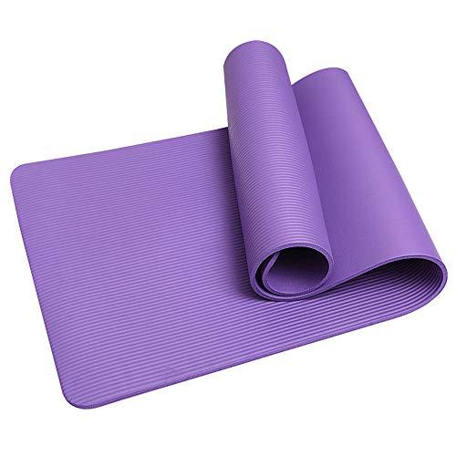 Lumiereholic – Esterilla de gimnasia, yoga, pilates, fitness, esterilla de yoga con correas y bolsa de red, 185 cm x 61 cm x 1,5 cm
