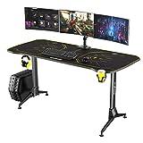 Outshine Gaming Surge Gaming Desk 160 cm x 75 – Altura ajustable con alfombrilla para ratón de...