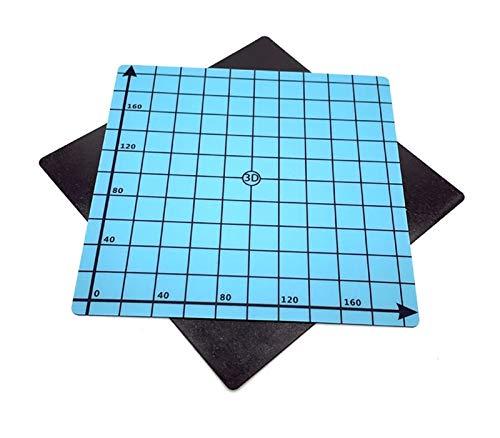FLY MEN Professionelle Werkzeuge, 2ST Magnetic Print-Bett-Aufkleber-Band 3D-Drucker 220 * 220mm Koordinaten Printed Hot Bed Oberflächen Sticker Blue for 3D-Drucker-Teile Industrie, Maschinen