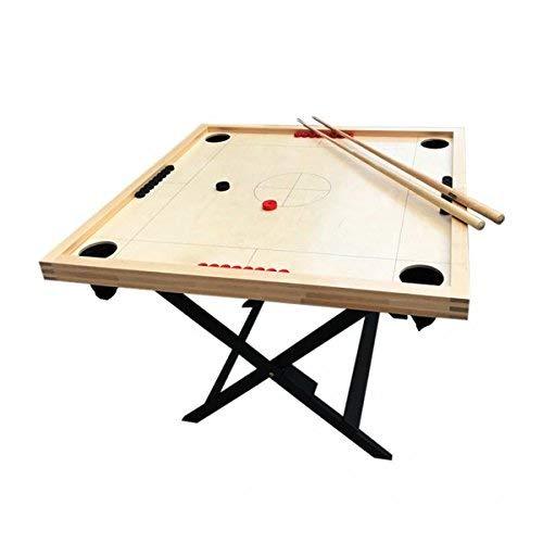Novuss - Tisch 108x108cm + 4 Queues + 32 Spielsteine + 2 Schlagscheiben (Scheiben-Billard, Seefahrer-Billard)