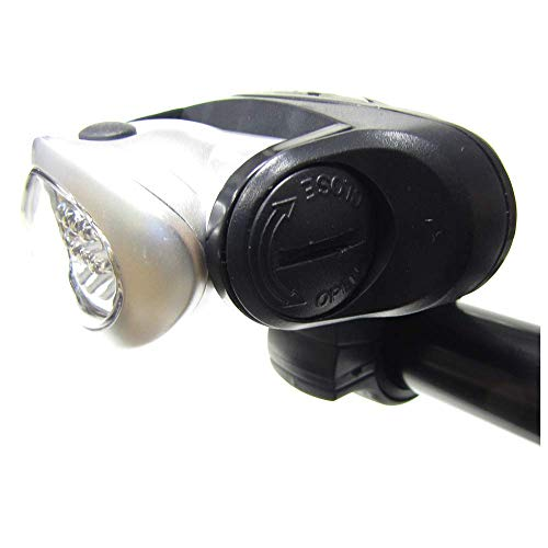 Cablematic - Faro LED para bicicleta frontal blanco