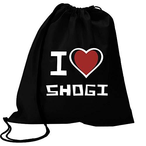 Idakoos I Love Shogi Bicolor Heart Sport Bag