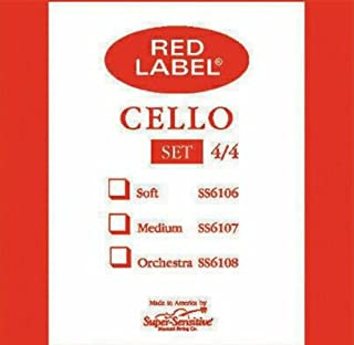 Super Sensitive Steelcore 4/4 Cello Strings: Set