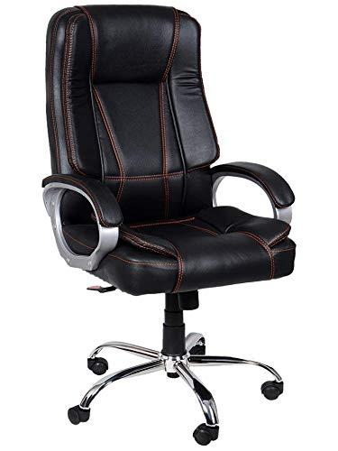 NICE GOODS Modern Steel Arm Rest Chair (Black)