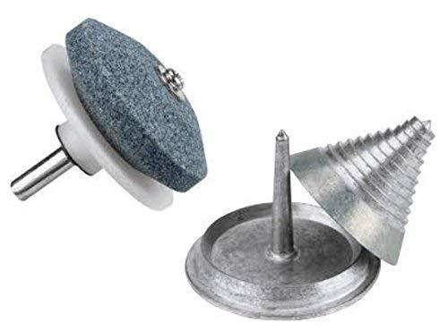 JR Power Equipment Die Cast Zinc Blade Balancer and Sharpener with Nylon Guide