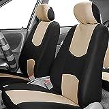 Dasing Juego de 2 fundas universales para asientos de coche, accesorios para el interior del coche, color beige