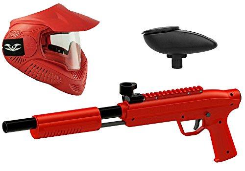 Valken Kinder Kids Gotcha Gun inkl. MI-3 Maske und Loader 120-cal. 50, 0.5 J-red Paintball Markierer Set, rot, M