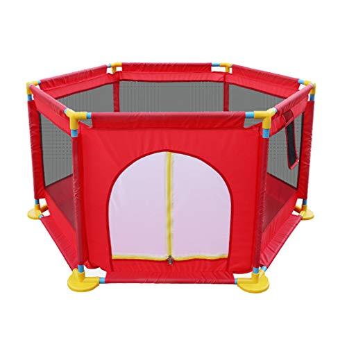 Large Baby Playpen Toddler Play Yards Indoor Outdoor, Mobilier de jardin d'enfants - avec ballon, anneau de traction, porte à fermeture éclair, filet respirant - Safety Gate Kids Centre