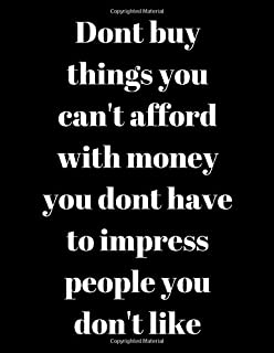 don t buy things you can t afford