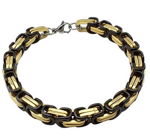 ANAZOZ RVS armband voor heren ketting zwart goud ruwe ketting