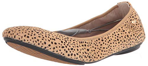 Hush Puppies Women's Chaste Ballet Flat, Spotted Calf Hair, 8.5 M