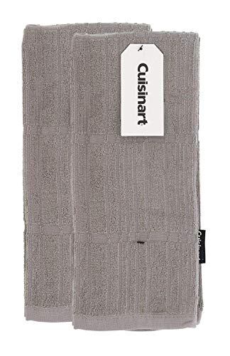 Product Image of the Cuisinart Bamboo Kitchen Towels, 2pk Drizzle Grey - Soft, Absorbent, Durable Kitchen Hand Towels Set - Quick Drying Bamboo Cotton Blend Perfect for Drying Dishes or Hands, 16 x 26 Inches