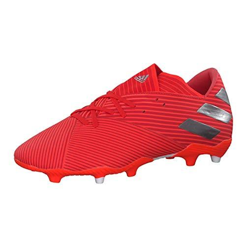 adidas Nemeziz 19.2 FG, Bota de fútbol, Active Red-Silver Metallic-Solar Red, Talla 7 UK (40 2/3 EU)