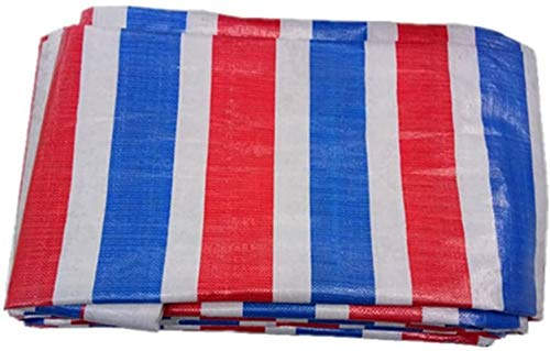 YUEDAI Tricolor Tarpaulin Tarp Ground Sheet Covers Tent Awning Heavy Duty Sun Protection Rainproof Tear Resistance Reinforced Anti-aging Light, Multi Sizes, 140g/M² (Color : Tricolor, Size : 4x10m)