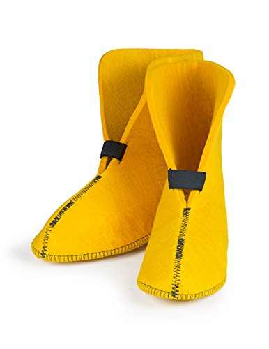 "FELT Replacement Boot Liners: 75% Wool, Yellow (624/626) - Standard Boot (Approx 10"" high), Men's 9 / Women's 10.5"