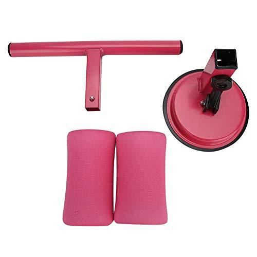 Fitness Sit-Up Aid, operación de Doble rotación Equipo de Modelado Firme del Cuerpo, diseño ergonómico Hogar al Aire Libre Hogar Fitness para Ejercicio(Pink)