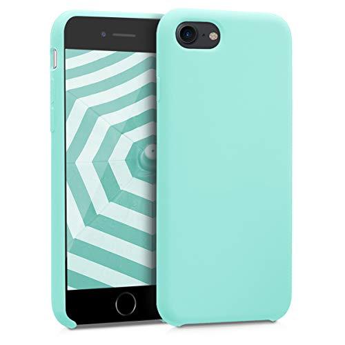 kwmobile Cover Compatibile con Apple iPhone 7/8 / SE (2020) - Custodia in Silicone TPU - Back Case Protezione Cellulare Menta Matt