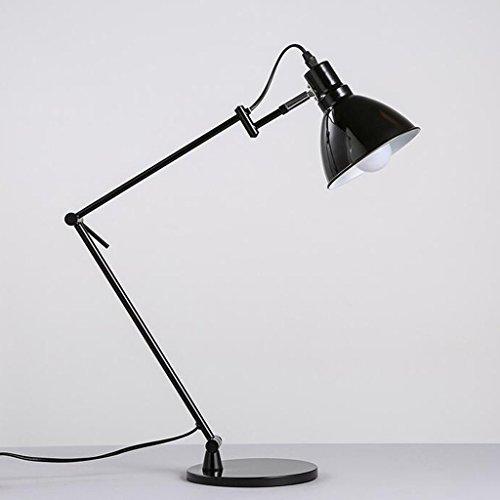 Bonne chose lampe de table Lampe de bureau Moderne noir long bras lampe de table pliante support métal bureau école bureau lampe de bureau