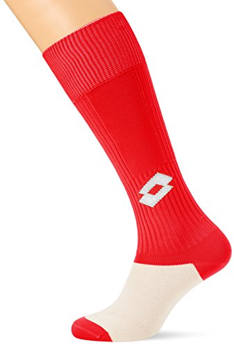 Lotto Hombre LT010/k4749 Equipo Calcetines de fútbol, Hombre, Color Flame Red/White, tamaño Size 711