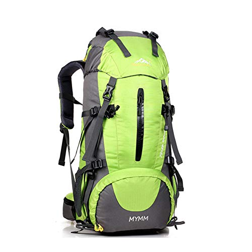 MYMM Mochila de 50/80L, Ideal para Deportes al Aire Libre, Senderismo, Trekking, Camping Travel, Escalada. Bolso Impermeable del Alpinismo, Daypacks Que suben del Recorrido, Mochila (Verde, 50L)