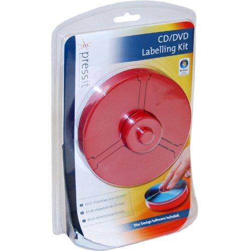 PressIt Superlite DVD/CD-Etiketten (inkl. Zentrierhilfe und Software)