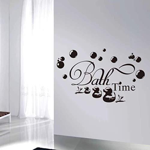 Bad Zeit Nette Ente Badezimmer Wandaufkleber Für Baby Kinder Badezimmer Dekoration Wandkunst Aufkleber Wallpaper Home Decor Aufkleber