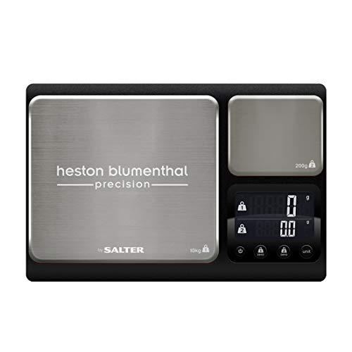 Heston Blumenthal: Bilancia di precisione a doppia piattaforma by Salter, 10kg ad alta capacità + seconda piattaforma di precisione da 200g