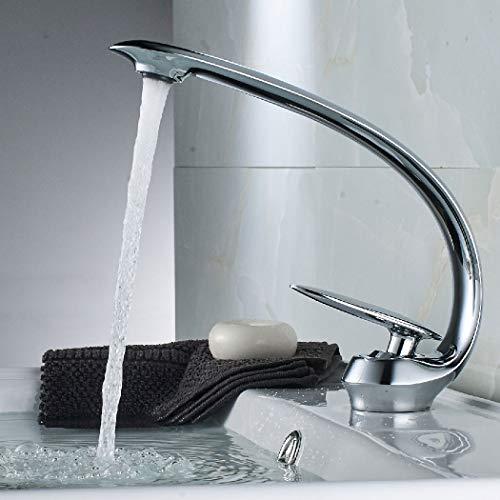 THEEIERCE Wasserhahn Bad Waschtischarmatur Waschbecken, Einhebelmischer Badarmatur Mischbatterie Waschbeckenarmatur Badzimmer, Waschtischarmatur mit kaltem und heißem Wasser