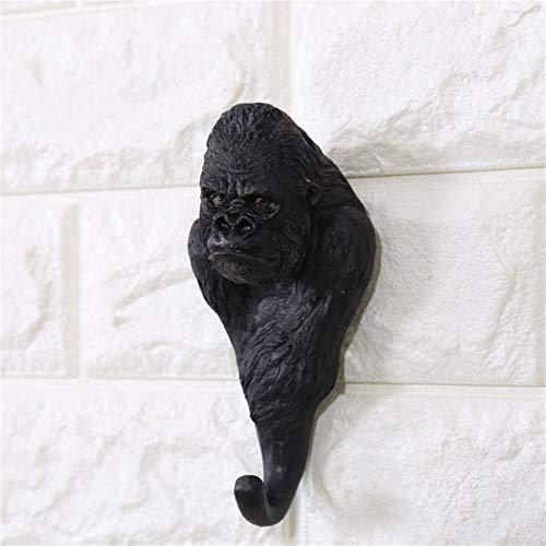 CCLLtuy Creative Animal Gorila Decoración de la Pared Gancho de la Pared Puerta de la Pared Bolsa de la suspensión Tecla Tenedor Tenedor Multiuso Decorativo Hook Decoración para el hogar