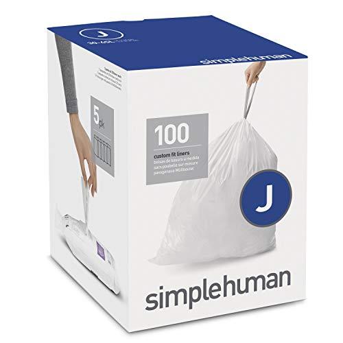 Simplehuman CW0238 Code J Afvalzak, 38L-40L, Wit, 100 Stuk