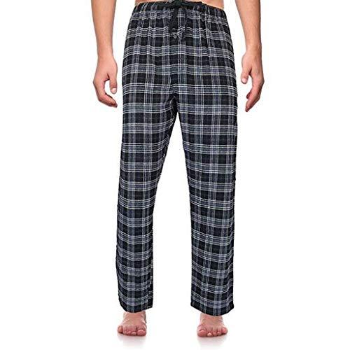 PowerFul-LOT Bas de Pyjama Hommes Longues à Rayures ou à Carreaux | Pantalons, Vêtements de Nuit Classiques pour Homme - Pantalon Bas de Pyjama Vêtement d Intérieur garçons