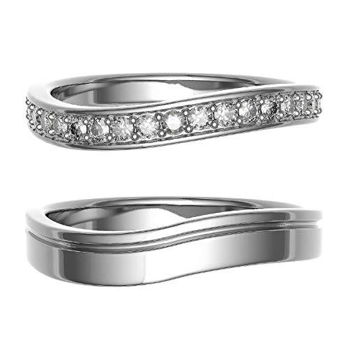 [ココカル]cococaru ペアリング 結婚指輪 K10ゴールド 2本セット マリッジリング ダイヤモンド 日本製(レディースサイズ5号 メンズサイズ6号)