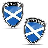 Biomar Labs 2 x 3D Gel Pegatinas Siliconas Adhesivos Emblema Auto Coche Moto Bici Ordenador Bandera Nacional Scotland Escocia Escocesa F 152