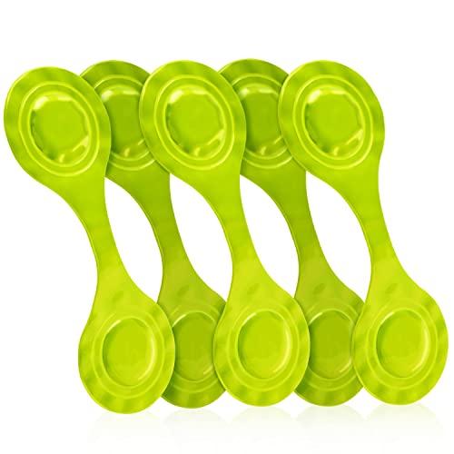 KD-TECH magnetische Reflektoren 5 Stück für Rucksack Schulranzen Kleidung Jacke (Grün)