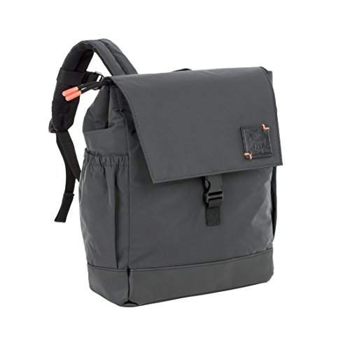 Lässig Little One & Me Backpack Small black Reflective Zainetto per bambini, 28 cm, Nero (Schwarz)