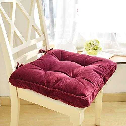 Verdikte stoel met demping, zitkussen van stof, zitkussen voor studentenstoel, zitkussen van tatami, voor klaslokalen, bureaustoel, vloermatten h 43 x 43 cm (17x17 inch) 43x43cm(17x17inch) Vistoso