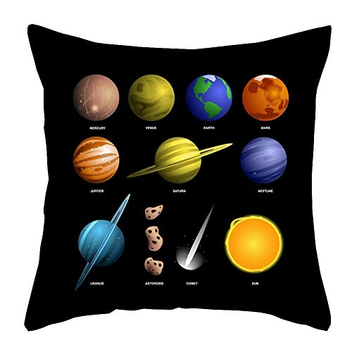 EZB Space Themed Cushion Covers (Planets & Names)