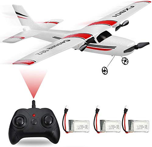 2CH 2.4GHz MSLAN RC Plane Outdoor Ready to Fly Remote Control Gliding Aircraft Model with 2 Extra Batteries(3 Batteries)-f4