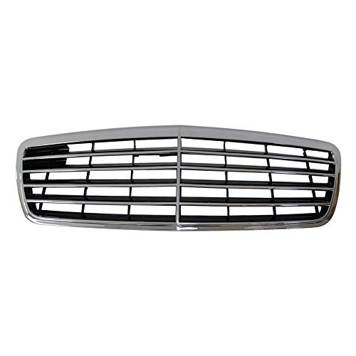 Perfit Liner New Front Chrome Black Grille Grill Compatible With MERCEDES Benz W210 E Class Sedan Wagon E320 E430 Fits MB1200116 2.1088E+13