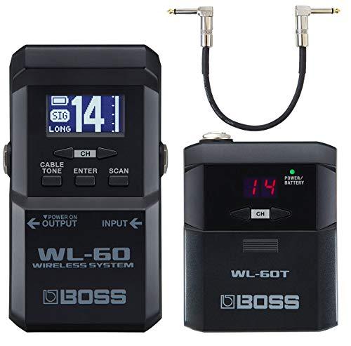 Boss WL-60 draadloos draadloos systeem voor gitaar + keepdrum patchkabel 30cm