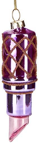 Brubaker Rossetto Rosa - Palla di Natale in Vetro Dipinto a Mano - Bocca Soffiata Decorazione Dell'Albero di Natale Figure Divertente Decorazione Ciondolo Decorazione Albero Palla - 10 cm