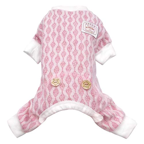 KYEESE Dog Pajamas Small Stretchable Dogs Pjs Jumpsuit 4 Legs Puppy Pajama Onesie Hair Shedding Cover