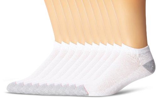 Hanes Herren Socken 10 Pack Low Cut - Weiß -