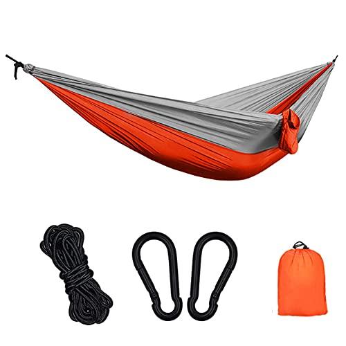 TTIK Hamaca Ultraligera para Viaje Y Camping Portátil Paracaídas Secado Rápido Capas Máx 250kg 2 Mosquetones Premium  2 Correas De Nylon